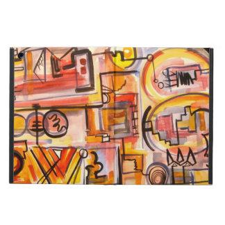 Modern Life - Abstract Art Handpainted iPad Air Cover