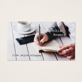 Modern Life Style Blogger Business Card