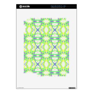 Modern Light And Airy Green Blue Tribal Pattern iPad 2 Skin