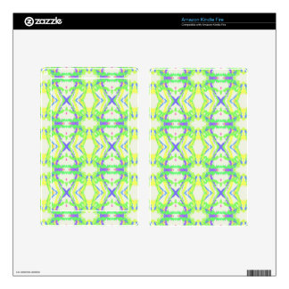 Modern Light And Airy Green Blue Tribal Pattern Kindle Fire Skin