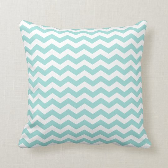 Modern Light Aqua Chevron Throw Pillow Zazzle.com
