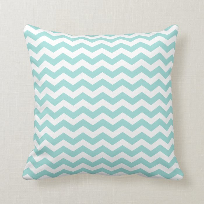 Pale Aqua Throw Pillow : Modern Light Aqua Chevron Throw Pillow Zazzle