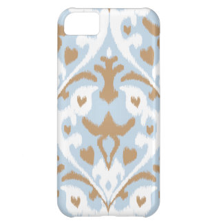 Modern light blue and white ikat tribal pattern iPhone 5C cover