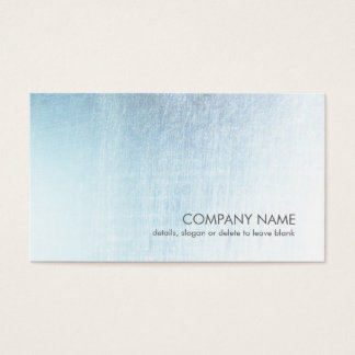 Modern Light Blue Brushed Metal Look Business Card