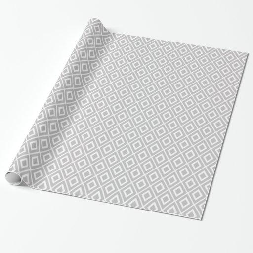 Modern light gray ikat pattern wrapping paper zazzle