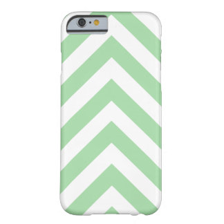 Modern Light Green and White Arrow Chevron Barely There iPhone 6 Case