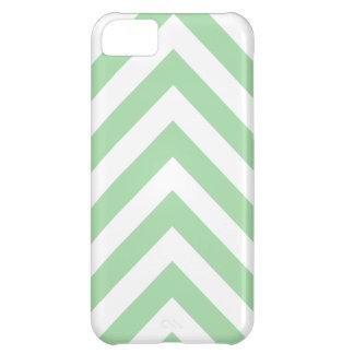 Modern Light Green and White Arrow Chevron iPhone 5C Case