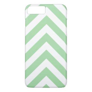 Modern Light Green and White Arrow Chevron iPhone 7 Plus Case
