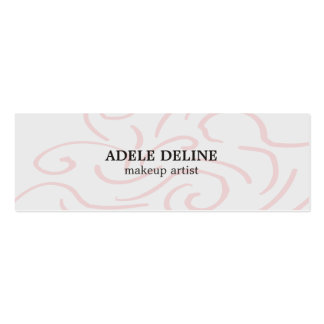 Modern Light Grey Pink Abstract Pattern Makeup Mini Business Card