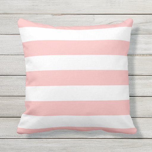 modern light pink and white stripes throw pillow zazzle. Black Bedroom Furniture Sets. Home Design Ideas