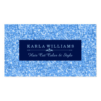 Modern Light Sky-Blue Glitter Texture Blue Accent Business Card