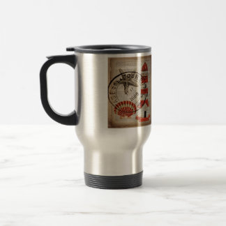 modern lighthouse seashells beach fashion coffee mug