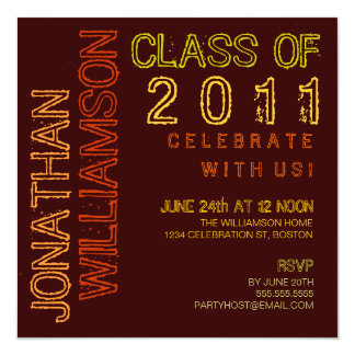 Modern Lights Graduation Party Invitation