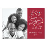 Modern Lights Happy Holidays Photo Card Groupon Custom Invites