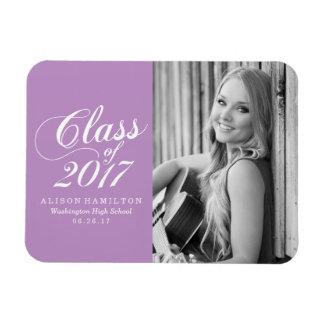 Modern Lilac | Graduation Magnet