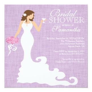 Modern Lilac Purple Bride Wine Bridal Shower Card