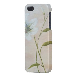 Modern Lilium Flower Oil Painting Art Cases For iPhone 5