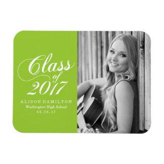 Modern Lime | Graduation Magnet