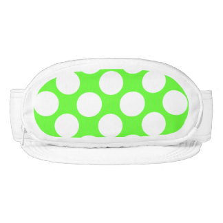 Modern Lime Green White Polka Dots Pattern Visor