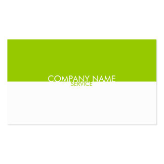 Modern Lime Green White Profile Card Double-Sided Standard Business Cards (Pack Of 100)