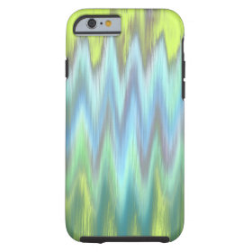 Modern Lime Turquoise Ikat Chevron Zigzag Tough iPhone 6 Case