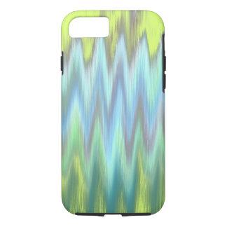 Modern Lime Turquoise Ikat Chevron Zigzag iPhone 7 Case