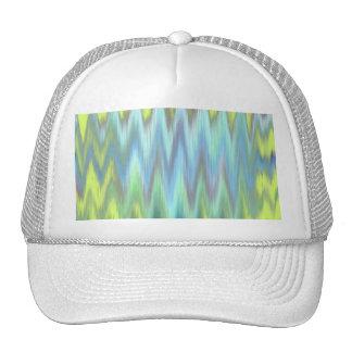 Modern Lime Turquoise Ikat Chevron Zigzag Trucker Hat