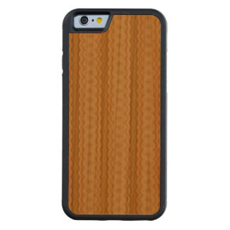 Modern line and diamond pattern carved® cherry iPhone 6 bumper case
