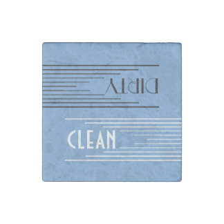 Modern Lines clean / dirty dishwasher (sky blue) Stone Magnet