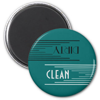 Modern Lines clean / dirty dishwasher (teal) Magnet