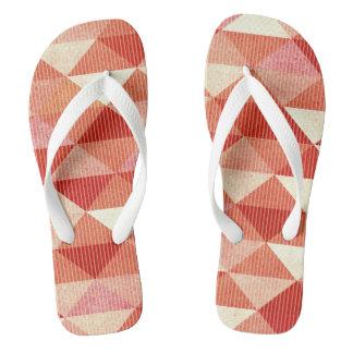 Modern Lines Geometric | coral Flip Flops