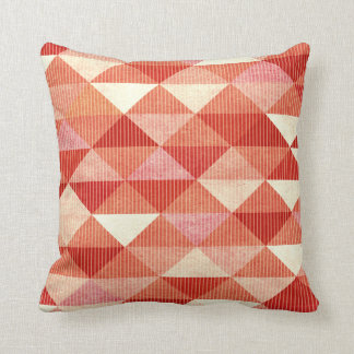 Modern Lines Geometric | coral Throw Pillow