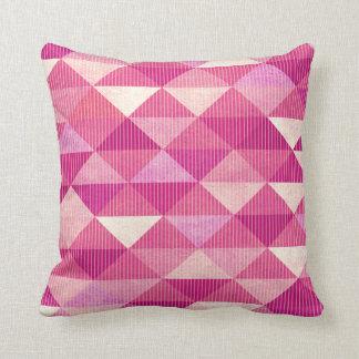 Modern Lines Geometric | fuschia Throw Pillow