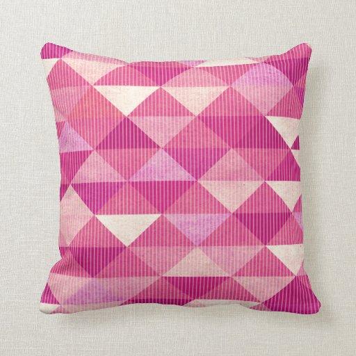 Modern Lines Geometric fuschia Throw Pillows Zazzle