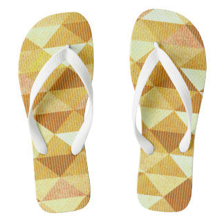 Modern Lines Geometric | gold Flip Flops