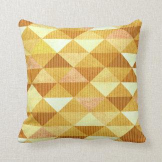 Modern Lines Geometric | gold Throw Pillow