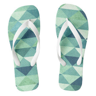 Modern Lines Geometric | teal Flip Flops