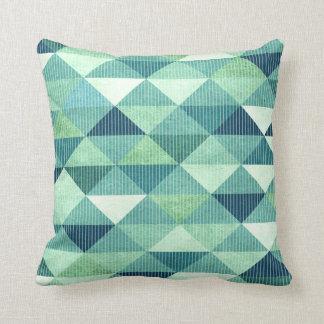 Modern Lines Geometric   teal Pillow