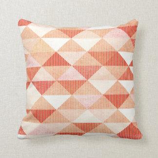 Modern Lines Geometric Triangles | peach Throw Pillow