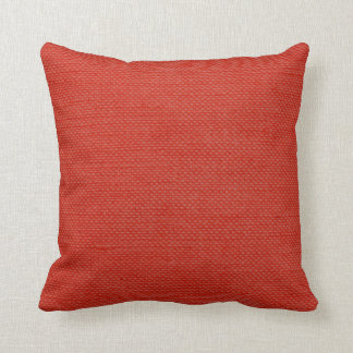 Modern Lines Linen Look coral Throw Pillow