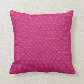 Modern Lines Linen Look fuschia Throw Pillow