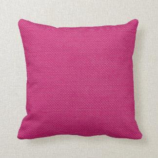 """Modern Lines """"Nubby Linen Look"""" fuschia Throw Pillow"""