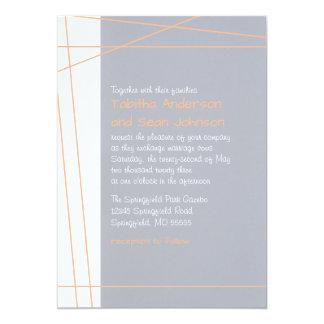Modern Lines Peach - Wedding Invitation