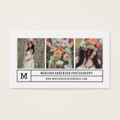 Modern lines | Photography Business Cards at Zazzle