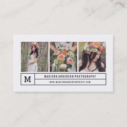 Modern lines  Photography Business Cards