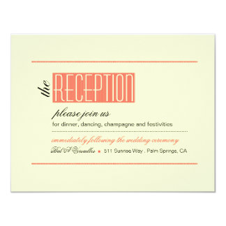 Modern Lines Reception coral Card