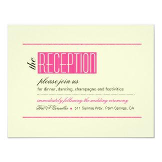 Modern Lines Reception fuschia Card
