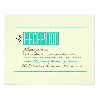 Modern Lines Reception teal Card