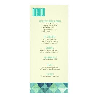 Modern Lines Wedding Menu teal Card