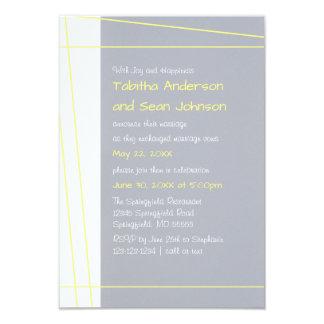 Modern Lines Yellow - 3x5 Wedding Announcement